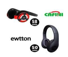 Audífono Ewetton con Bluetooth, inalambricos , MP3 y Radio , Entrada Memoria asta 32GB en ofe