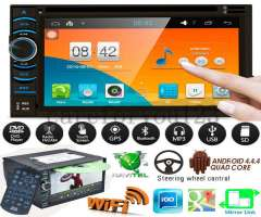 ANDROID WIFI AUTORADIO CON PANTALLA TACTIL, BLUETOOTH, CD, USB, GPS