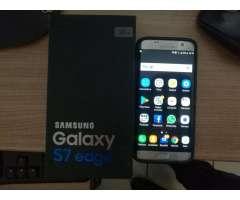 Samsung Galaxy S7 Edge Plateado Excelente Estado En Caja