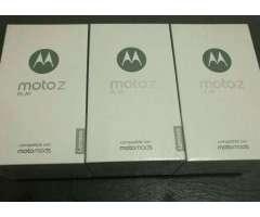 Moto Z Play, con 3 Motomods, 3gb Ram, 32gb, Octa Core, Cam.16mpx Y 5mpx, 4g Lte