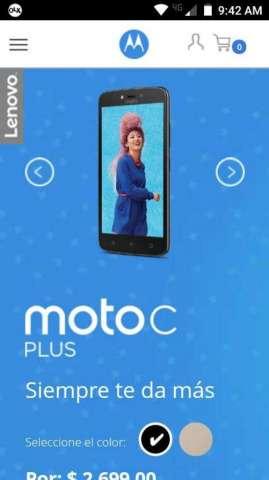 Vendo Moto C Plus con Detalle