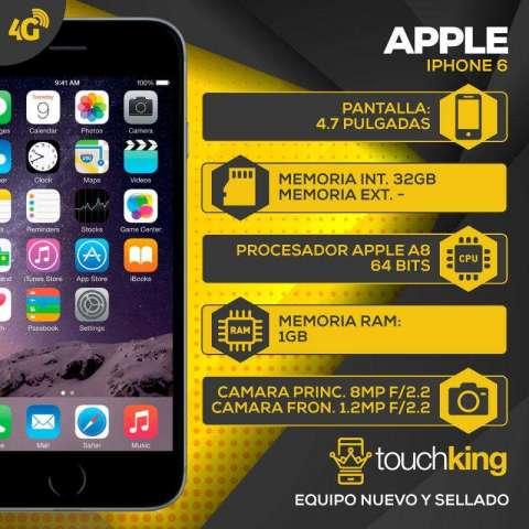 Celular Apple iPhone 6 32gb nuevo sellado en caja de TOUCHKING TIENDA OFICIAL