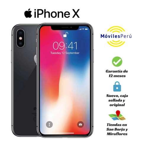 IPHONE X 64 GB NUEVO, CAJA SELLADA, GARANTÍA DE 12 MESES, TIENDAS FÍSICAS