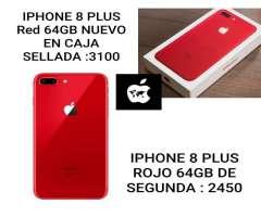 iPhone 8 Plus Red Libre