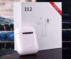 Audífonos Bluetooth táctiles i12 5.0 tipo airpods profesionales (Versi&oacut...