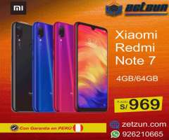 Xiaomi Redmi note 7 4gb 64gb negro azul  VERSION GLOBAL
