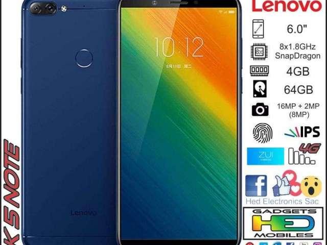 K5 NOTE 6.0 Lenovo L38012 4GB 64GB Snapdragon 450 Octa Core 4G LTE Smartphone