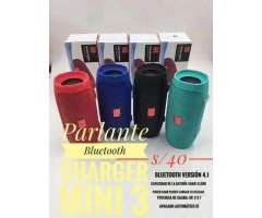 Parlante Bluetooth Charger Mini 3 Super