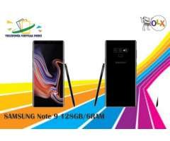 SAMSUNG GALAXY NOTE 9 128GB COLORES NUEVO COMODO SOMOS TELEFONIA VIRTUAL PERU