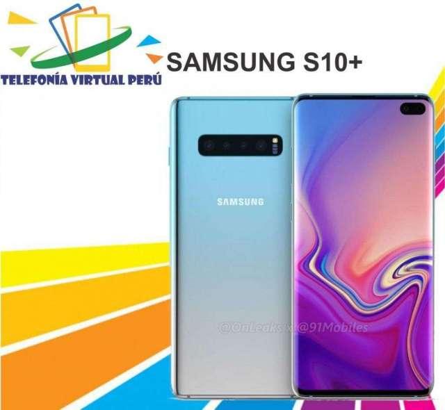 SAMSUNG S10 PLUS 128GB8RAM MICA DE VIDRIO SOMOS TELEFONIA VIRTUAL PERU