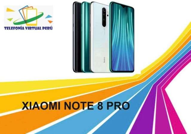 XIAOMI REDMI NOTE 8 PRO 64GB 4RAM SOMOS TELEFONIA VIRTUAL PERU